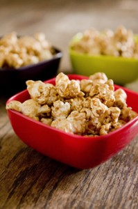 caramelcorn 199x300 Microwave Caramel Corn: Yummy Treat in a Brown Paper Bag
