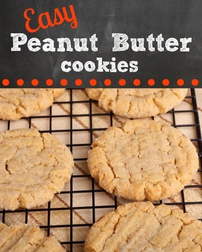 Easiest Chewy Peanut Butter Cookies