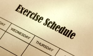 exercise.schedule 300x183 All or Nothing:  How About a Realistic Workout Schedule?