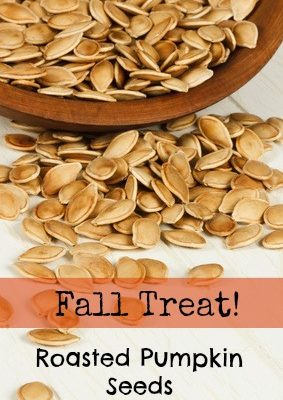 Fall Treat:  Roasted Pumpkin Seeds