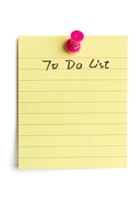 Getting Things Done:  Make a List and Check It Twice