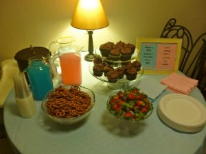 baby.party .table  300x225 A Simple Baby Gender Reveal Party (and Strawberry Icing Recipe!)