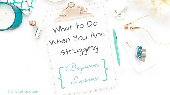 What to Do When You Are Struggling:  Beginner Lessons