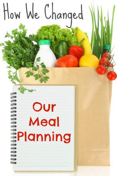 How We Changed Our Meal Planning