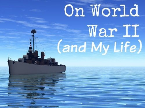 Rendered scene of a world war two ship at sea
