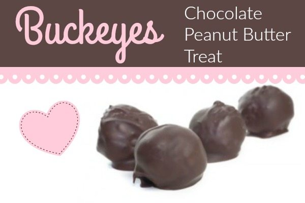 Peanut Butter and Chocolate Treat:  Buckeyes