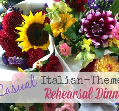 Casual Italian Themed Rehearsal Dinner