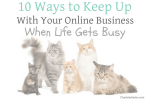 10 Ways to Keep Up With Your Online Business When Life Gets Busy