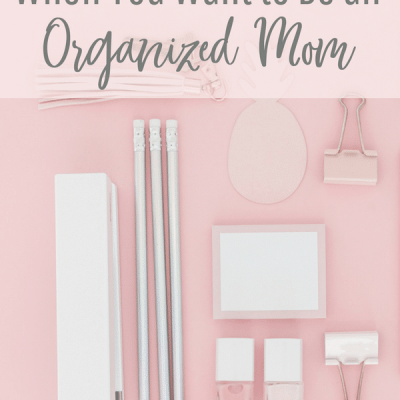 When You Want to Be An Organized Mom