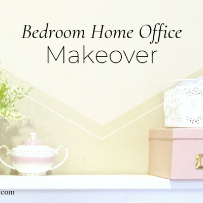 Bedroom Home Office Makeover